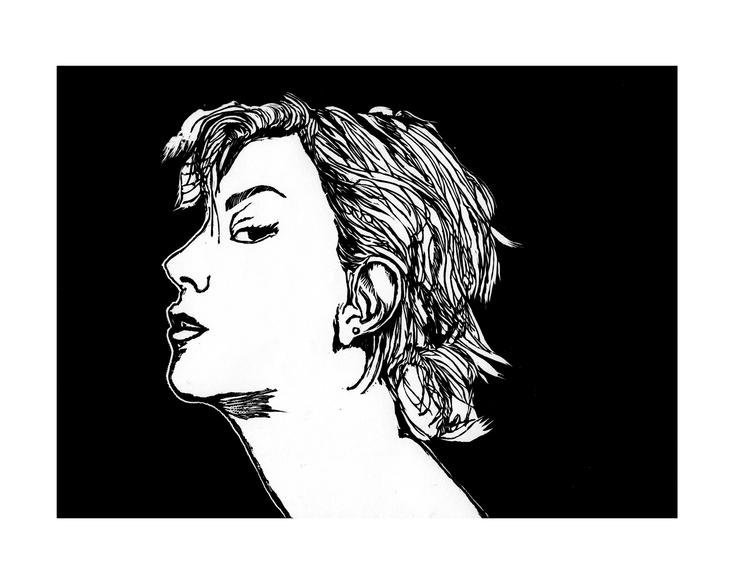 Scarlett Johansson | Linocut