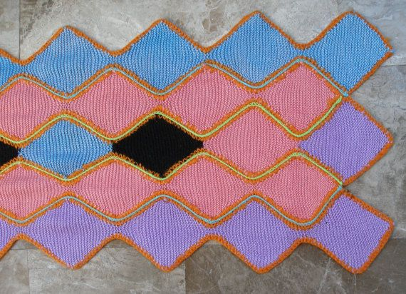 What about A joyful point in your home!!! Vintage Kitchen Rug Bath Mat Knitted and crochet by VintageHomeStories,
