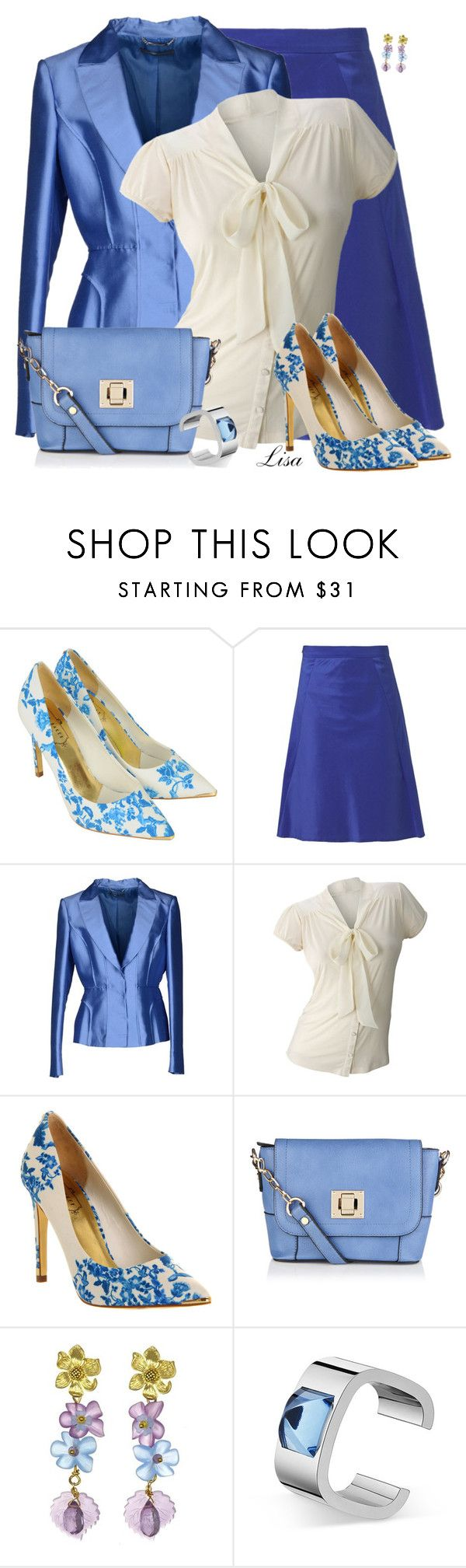 """""""Ted Baker High Heels"""" by lmm2nd ❤ liked on Polyvore featuring Ted Baker, Daniel Hechter, Alberta Ferretti, Oasis, contest, Blue, tedbaker and polyvoreeditorial"""