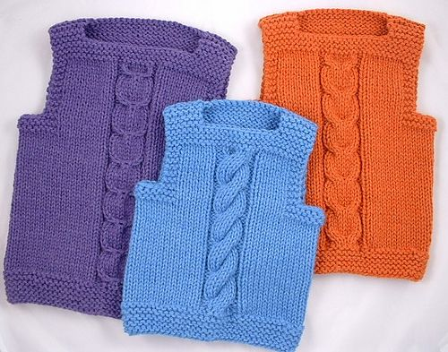 Ravelry: Center Cable Vest pattern by Kathleen Thomas
