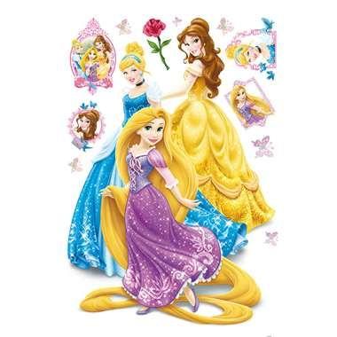 Disney Princess maxi muursticker  Tover je kamer om tot een magische prinsessenkamer met deze Disney Princess-maxisticker van Assepoester Belle en Rapunzel.  EUR 22.99  Meer informatie