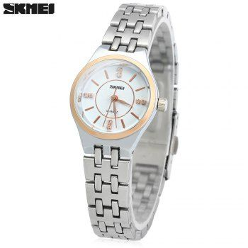 SHARE & Get it FREE | Skmei 1133 Female Quartz Watch Round Dial Steel Band 30M Water ResistantFor Fashion Lovers only:80,000+ Items·FREE SHIPPING Join Dresslily: Get YOUR $50 NOW!