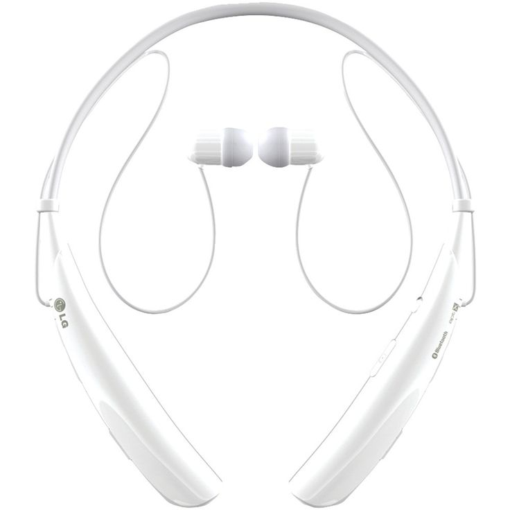 Lg Tone Pro Bluetooth Stereo Headphones With Microphone (white)