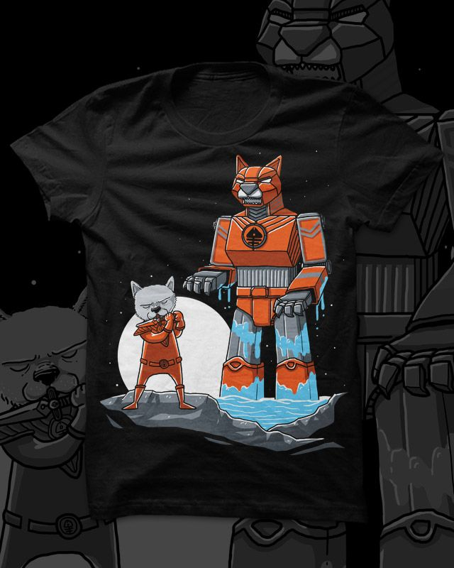 a design submission for threadless www.threadless.com/supercats/mighty-morphin-purr-ranger/