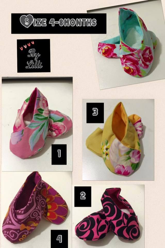 Handmade by Lilli Baby shoes. 100% cotton fabric.