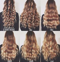 five ways to wave/curl your hair with a wand!