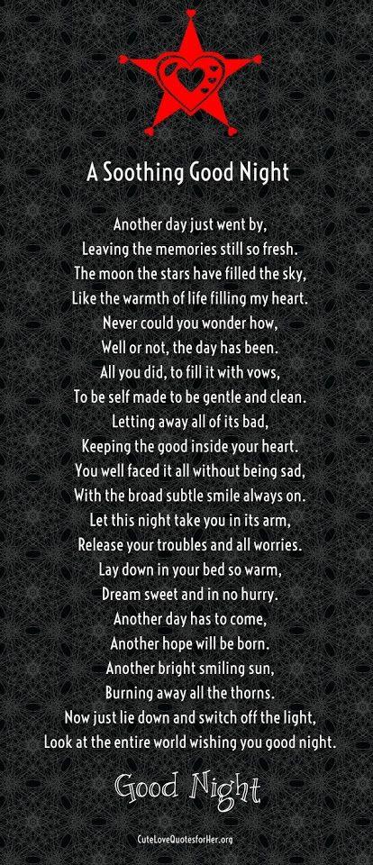 Good Night Poems Girlfriend