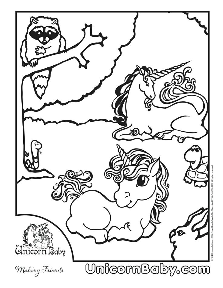 mom and baby coloring pages - 17 best images about unicorn baby coloring pages on