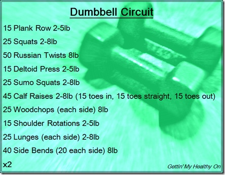 Dumbbell Circuit - one of my all-time favorite weight workouts