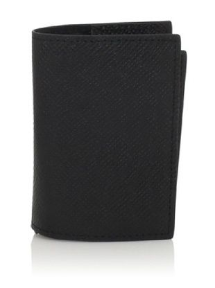 Joseph Abboud Men's Embossed Caviar Grain Flip Passcase Wallet (Black)