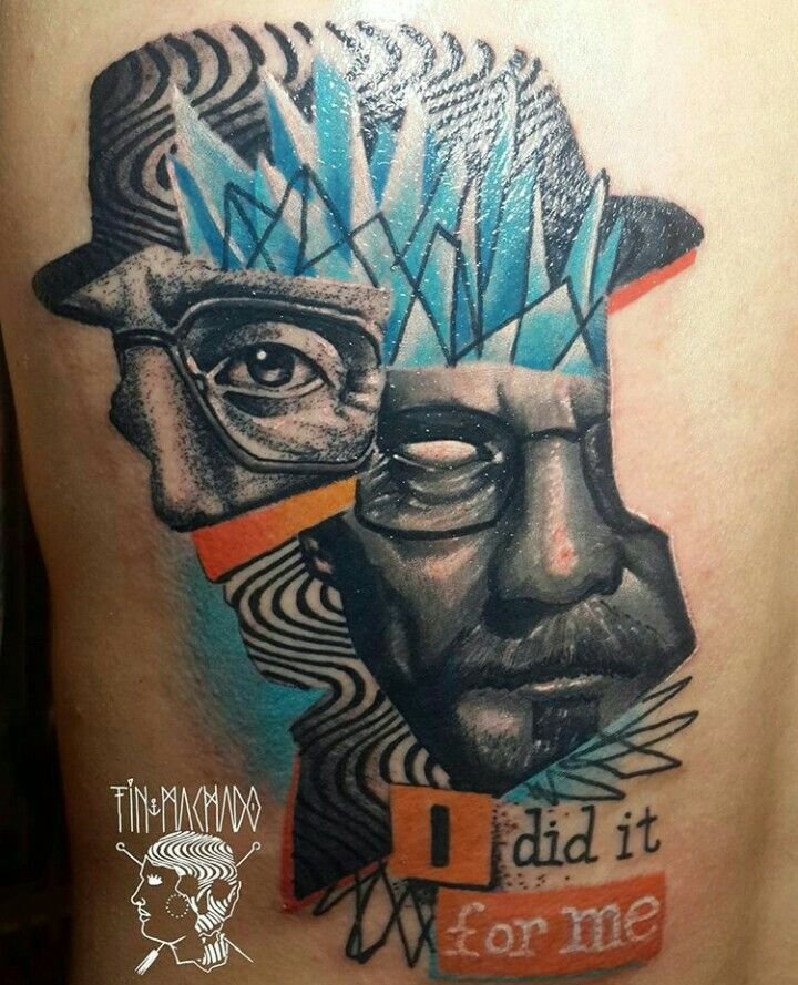 By Tin Machado | Argentine | #BreakingBad #Metanfetamine #Drugs #Tattoo #FreestyleTattoo #Design #Art