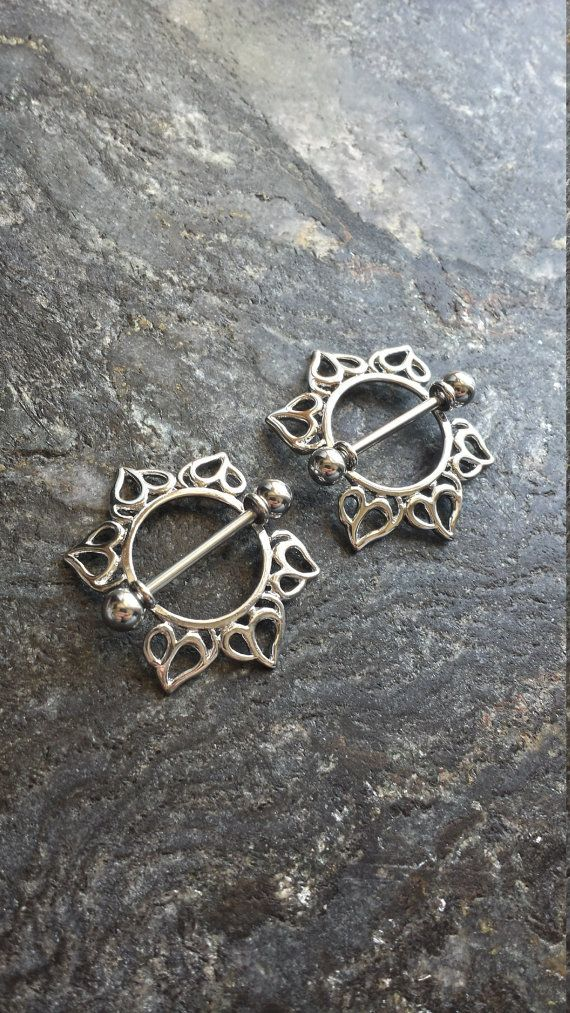 23 best nipple piercings images on pinterest body mods nipple flower child nipple piercing shields 14g 16mm jewelry accessory solutioingenieria Image collections