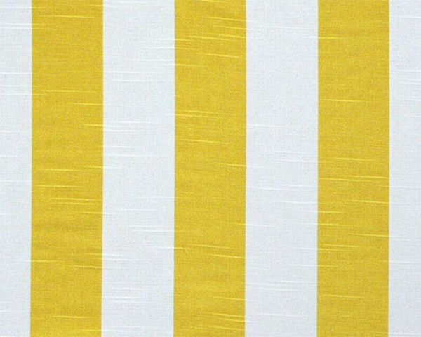 Cafe Curtain Valance Lined Or Unlined Corn Yellow White Striped Kitchen