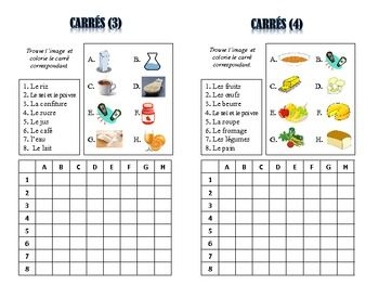 12 French Food and Drinks Vocabulary Puzzles; Lots of Uses