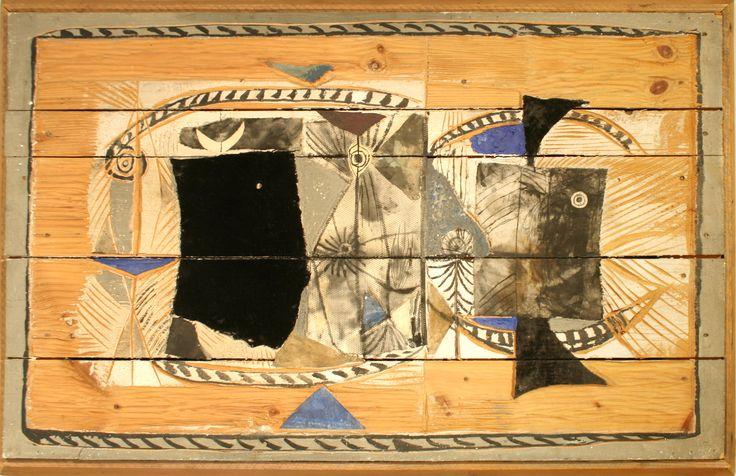 Post-War Design Scandinavian picture abstract wood
