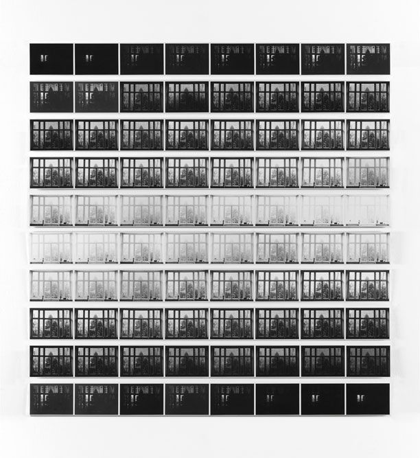 The Shortest Day of 1970 Photographed in My House Every 6 Minutes from Sunrise til Sunset, 1970    Jan Dibbets