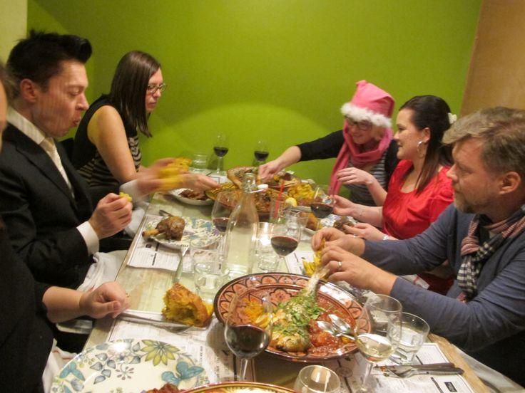 Värikästä lautasella pikkujoutunnelmissa Sandrossa.