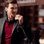 Men's Smart-Casual Outfit Inspiration: love the red!