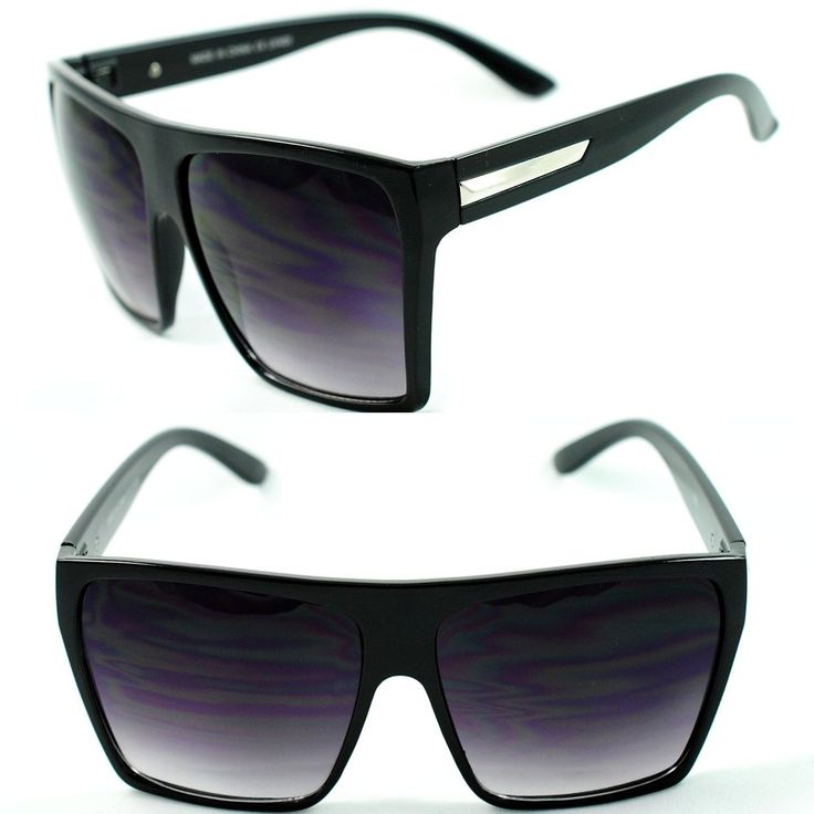 Womens Oversized Diva Huge Square Traperzoid Super Flat Top Celebrity Sunglasses #Square
