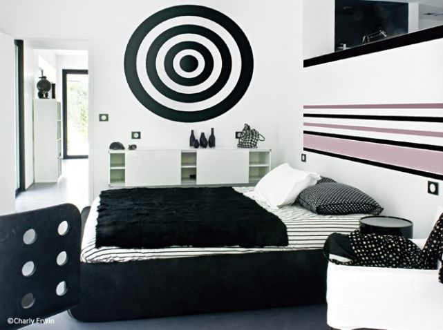 Maison Noir Et Blanc Chambre | Bedroom & Closet | Pinterest