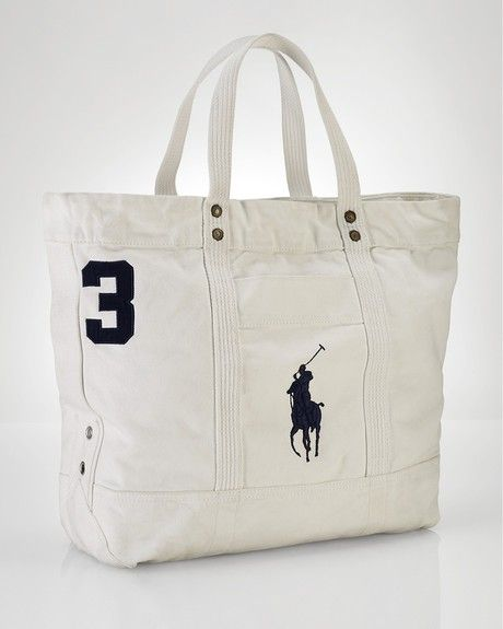 ralph lauren large tote | Polo Ralph Lauren Big Pony Tote in White for Men - Lyst