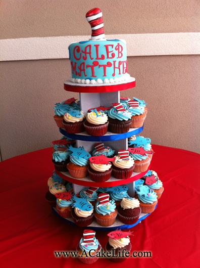 Babys First Birthday Cupcakes Smash Cake Idea I Would Change The Color Scheme For A Girl