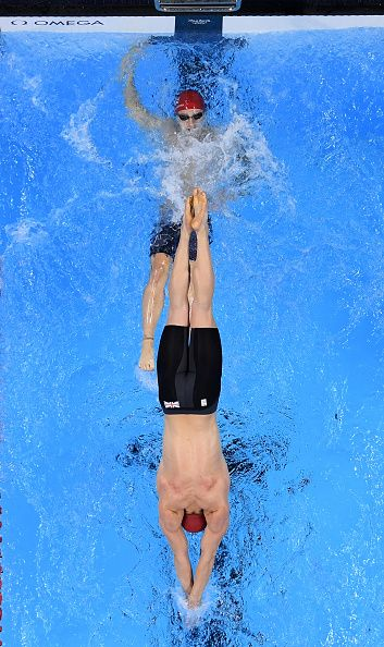 Adam Peaty of Great Britain competes in the Men's 4 x 100m Medley Relay Final on…