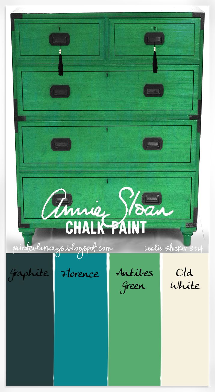 Creating a gorgeous emerald green with Antibes Green Chalk Paint® decorative paint by Annie Sloan | By Colorways