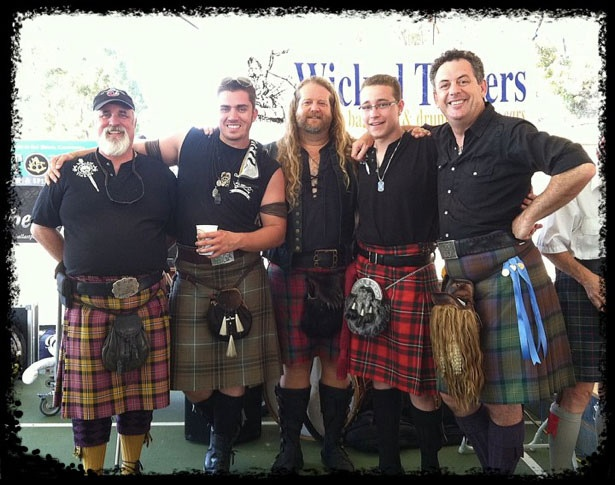 My fav Scottish Band, The Wicked Tinkers.  2nd from the right is my Grandson, Charlie.