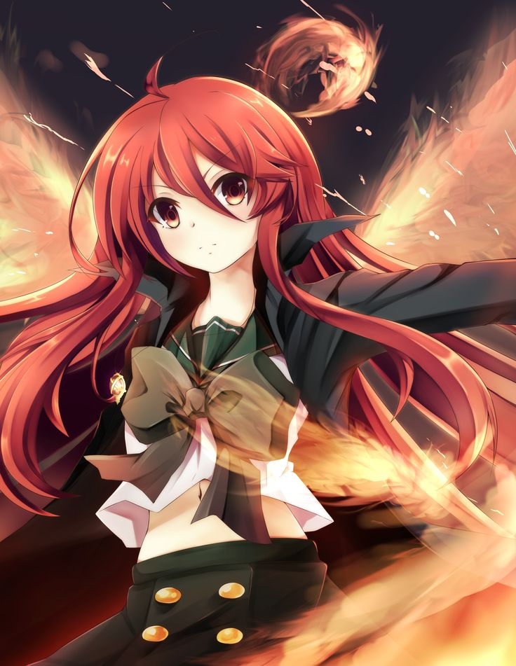 Anime 2894x3743 anime anime girls Shakugan no Shana Shana long hair red eyes redhead