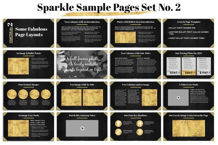 This fully customizable, sparkle and shine Powerpoint Template comes with over 296hand crafted master slides and tons of custom icons. It's great for eBooks, digital photo albums and creative business presentations.