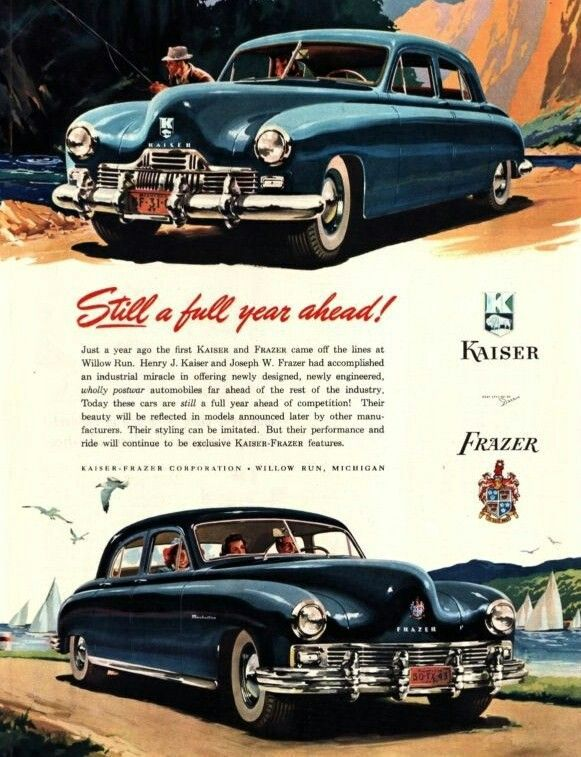 1951 Kaiser Frazer Collectible postcard
