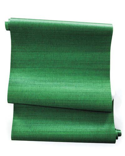15 Must See Grass Cloth Wallpaper Pins: Pantone Color Of The Year: Emerald Green