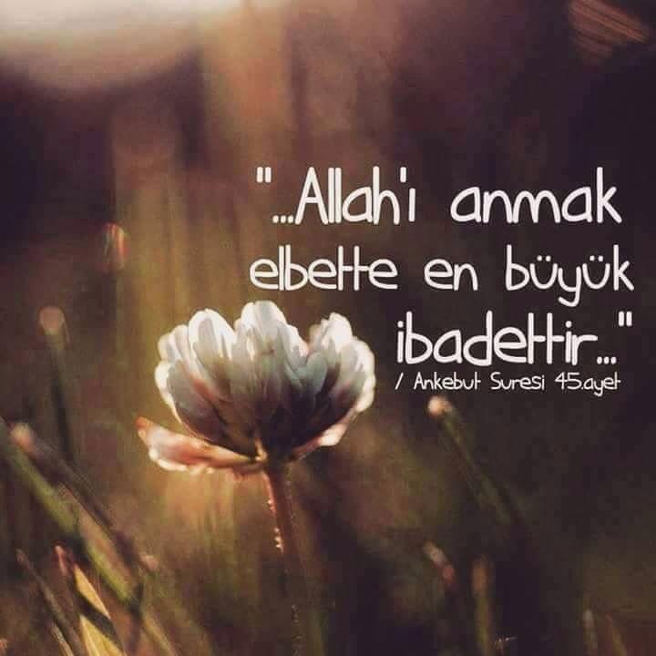 Allah'ı anmak..