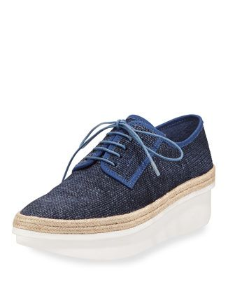 Gordon+Too+Denim+Platform+Espadrille+Sneaker,+Indigo+by+Derek+Lam+10+Crosby+at+Bergdorf+Goodman.