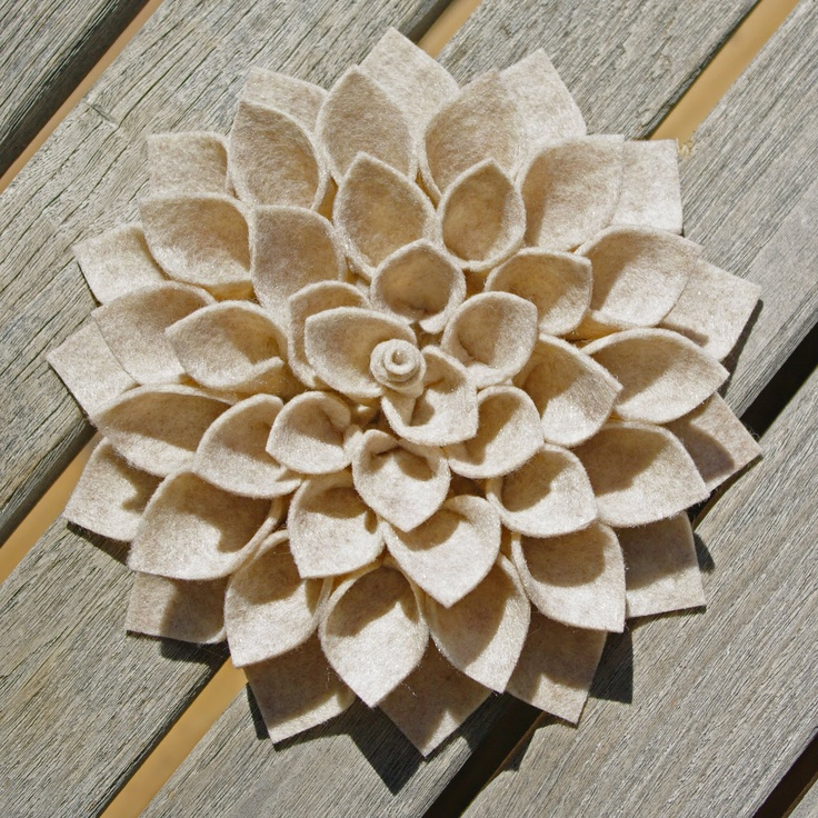 DIY felt flowers. The possibilities are endless....