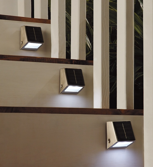 Light up hard-to-see places outside your home without plugs or wiring with our solar wedge lights.