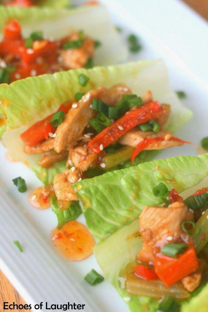 ... Pinterest | Tuna lettuce wraps, Turkey and Thai chicken lettuce wraps