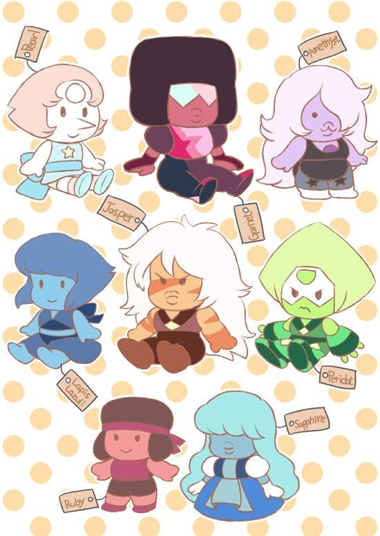 Gem plush toys. Steven universe