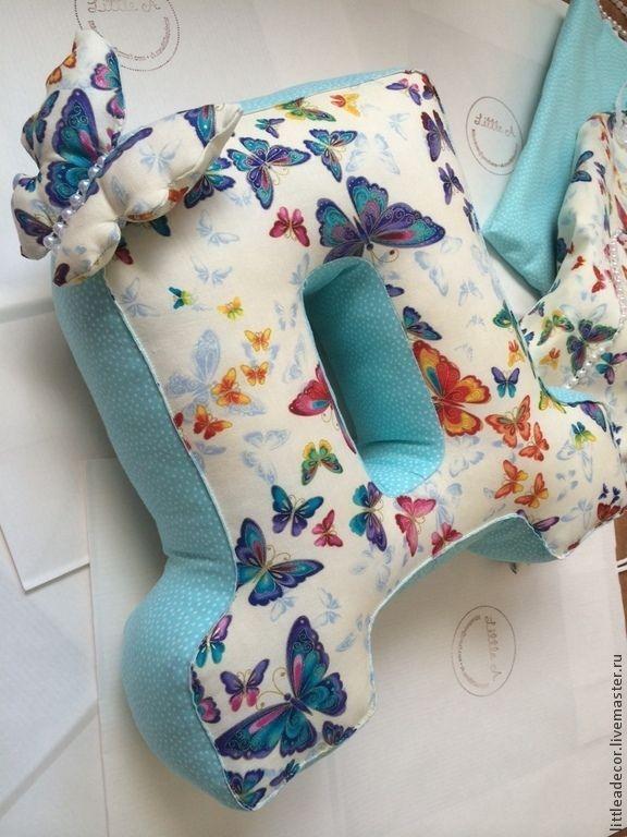 Декоративная подушка-буква Д - Елена (littleadecor) - Ярмарка Мастеров