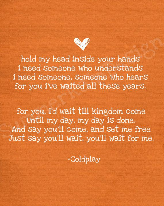 Kingdom Come - Coldplay; played this song at a wedding and the words just cut through me like a knife...  I felt so ruined :( I hope the sweet couple never noticed me. No one should be sad faced at a wedding (Aj)
