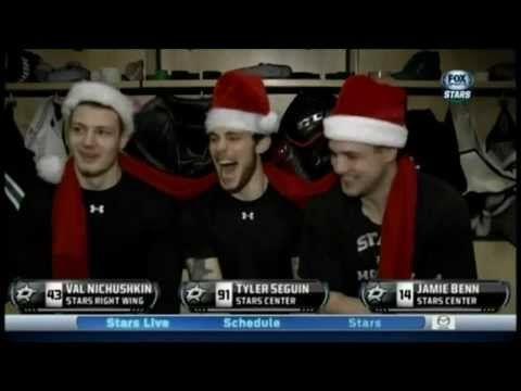 Tyler Seguin, Jamie Benn, Valery Nichushkin wish you Merry Christmas: #IamValNichushkin - YouTube