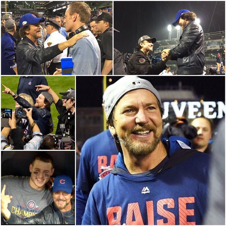 Ed/Cubs collage. Courtesy of Pearljamonline,it