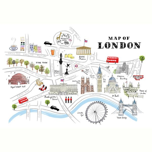 alice tait map of london print