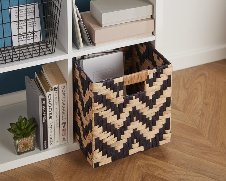 Maximise on the storage in your home and make space for all that clutter. Rattan storage boxes with a geometric design are a great way to add a feature.