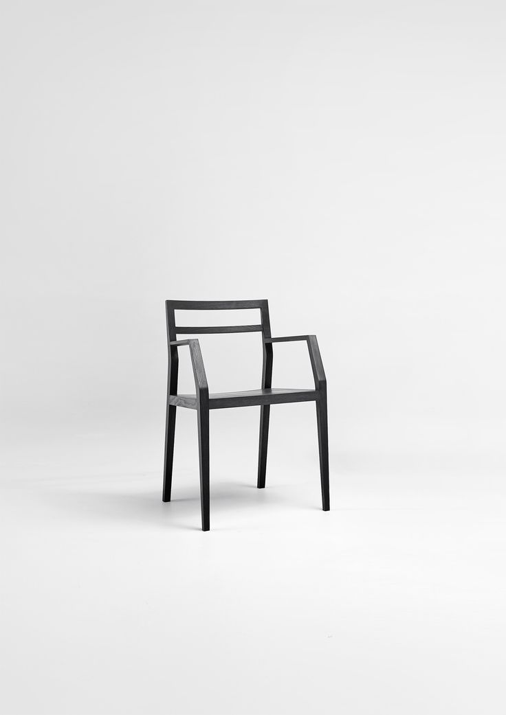 "Dining chair ""Emma"" in black stained ash."