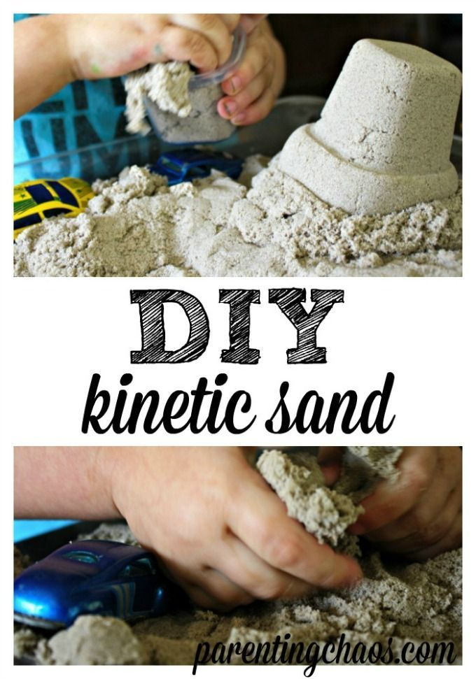 DIY Kinetic Sand is no mess, easy clean up and a ton of fun. DIY Kinetic Sand is much cheaper, super easy to create! Your Kiddos will LOVE this stuff!