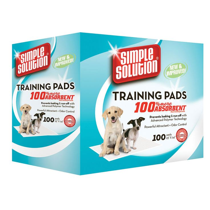 The Simple Solution training pads are a super absorbent training pad.
