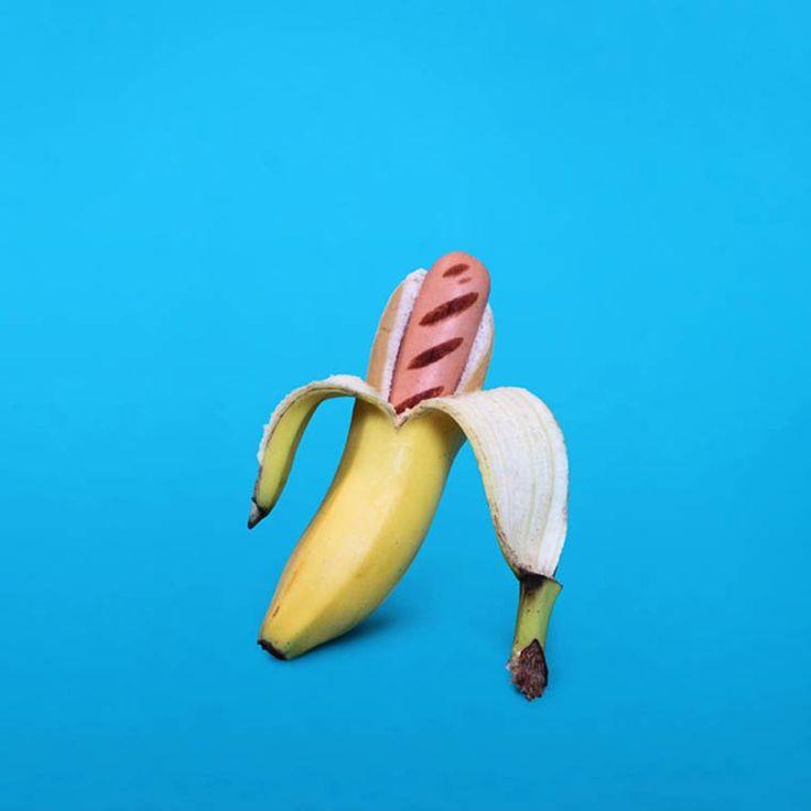 Une sélection des photographies surréalistes d'Arnaud Deroudilhe, réalisateur, photographe et directeur artistique français basé à Paris, incluant sa série Junk Fruits, mêlant les icônes de la junk food avec des fruits dans une série étrange et colorée.