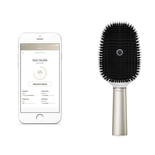 These Buzzy New Beauty Products Prove That 2017 Really Is The Future Kérastase Smart Brush The Kérastase Hair Coach Powered By Withings Takes Brushing Your